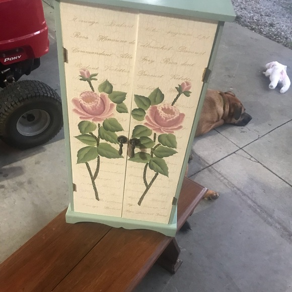Home Collection Other - Handpainted wood miniature cabinet